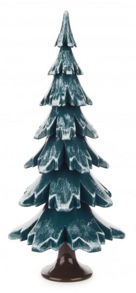 Dregeno Erzgebirge - Massivholzbaum grün/weiß 19 cm