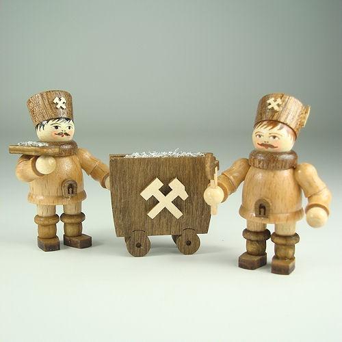 Lenk & Sohn Gedrechselte Holzfigur Erzgebirge Bergmannsfiguren im Set