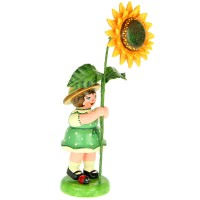 Hubrig Blumenmädchen 11cm Blumenkind mit Sonnenblume