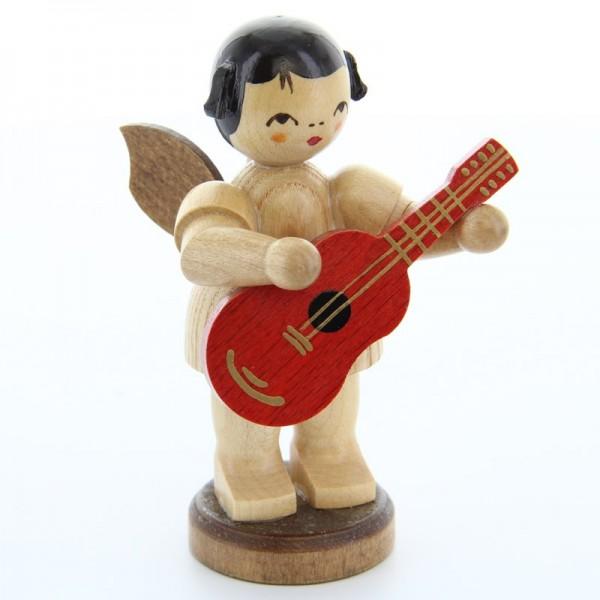 Uhlig Engel groß stehend mit Gitarre, natur, handbemalt