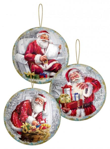 Dregeno Erzgebirge - Weihnachts-Geschenkkugel zum Befüllen »Weihnachtsabend«, 3 Motive sortiert (12)