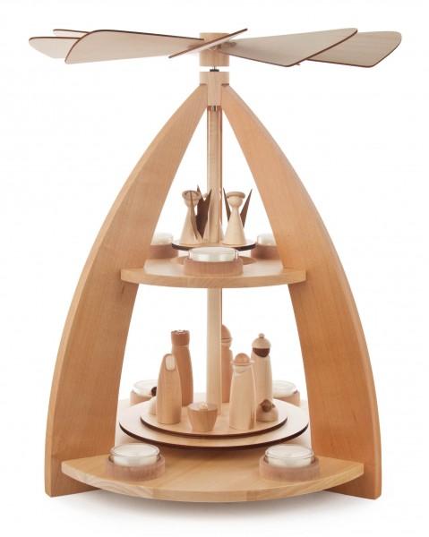 Dregeno Erzgebirge - Pyramide Christi-Geburt für Teelichte