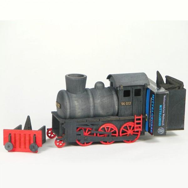 HELA Neuheit Dampflok rauchend schwarz