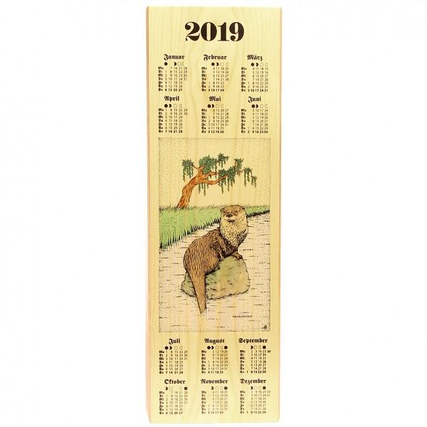Holzkalender 2019 - Jagdmotiv Flussotter