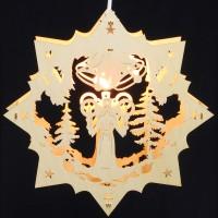 Fensterbild Erzgebirge beleuchtet - Motiv Engel - 27cm