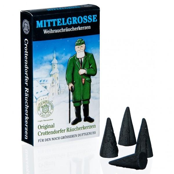 Original Crottendorfer Räucherkerzchen - Weihnachtlicher Weihrauch mittelgroß
