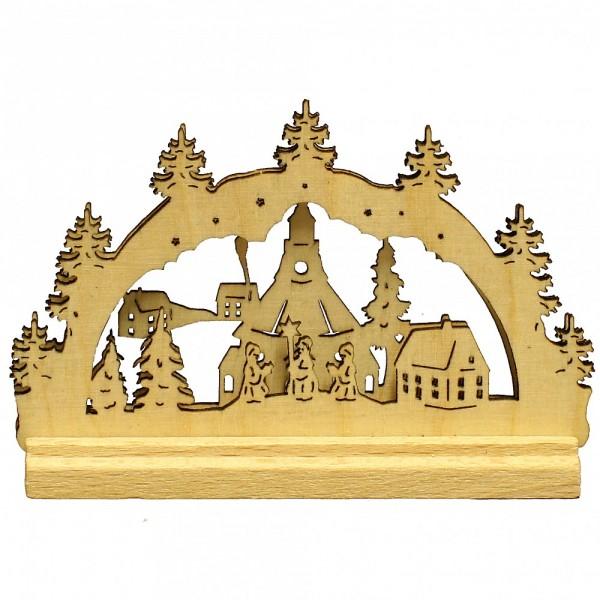 HELA Holzkunst - Miniatur Schwibbogen 2D Seiffener Kirche