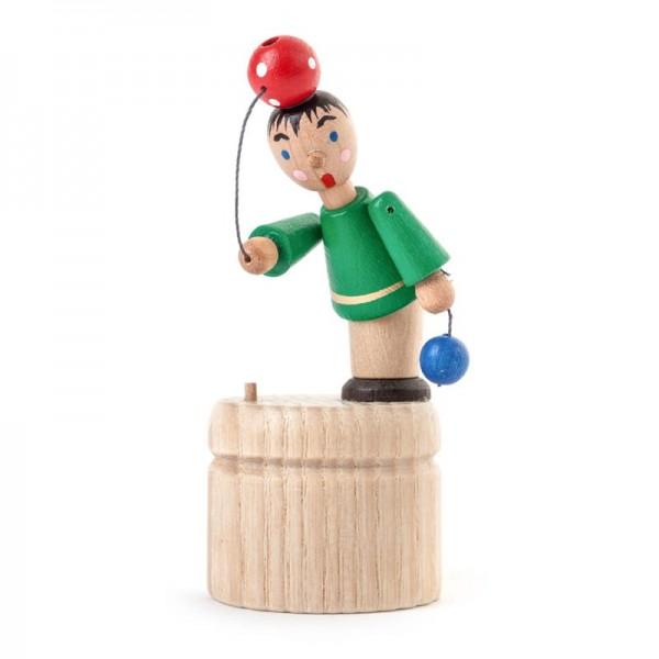 Dregeno Erzgebirge - Miniatur-Wackelfigur Ballspieler