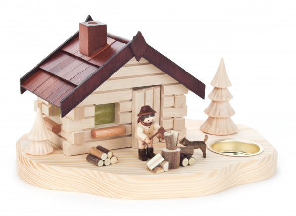 Dregeno Erzgebirge - Räucherhaus mit Holzhacker, für Teelicht