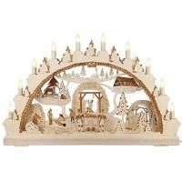 Restposten: HELA Holzkunst - 2D Schwibbogen mit Bergmännern - graviert