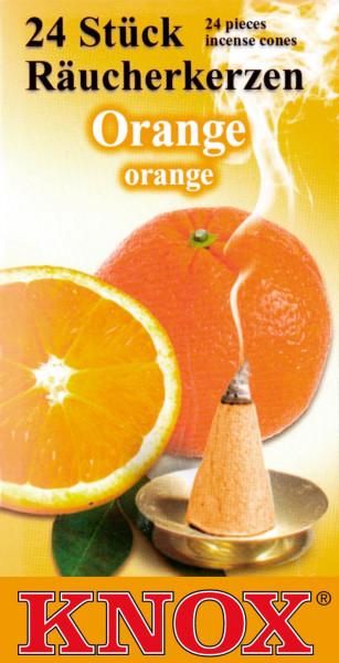 Dregeno Erzgebirge - KNOX Räucherkerzen Orange (24)