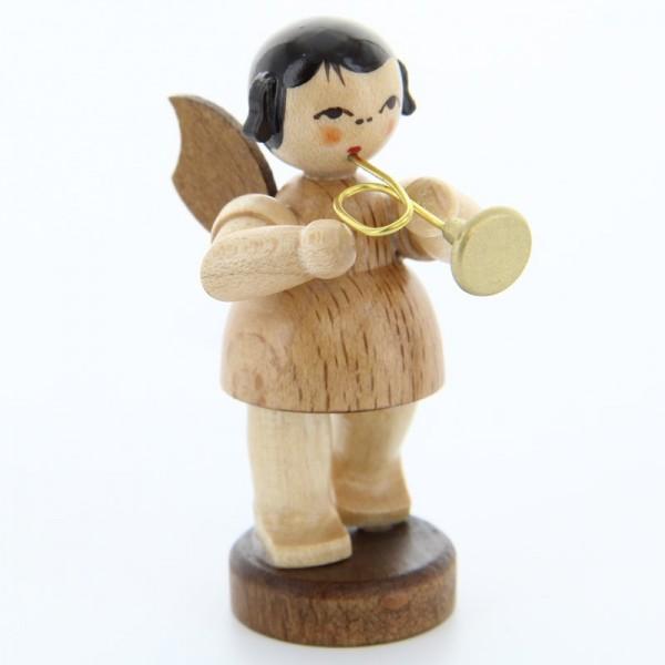 Uhlig Engel stehend mit Trompete, natur, handbemalt