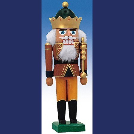 KWO Nussknacker Erzgebirge König mit Krone 29cm