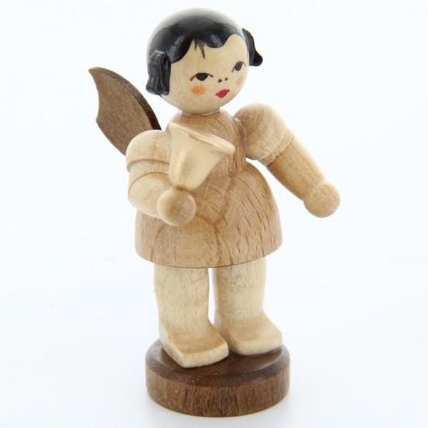 Uhlig Engel stehend mit Glocke, natur, handbemalt