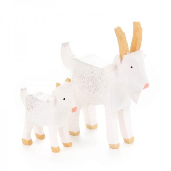Dregeno Erzgebirge - Miniatur-Ziegen, weiß
