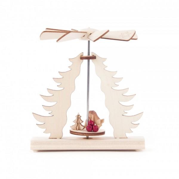 Dregeno Erzgebirge - Wärmespiel Miniatur mit geschnitzten Rehen - 11cm