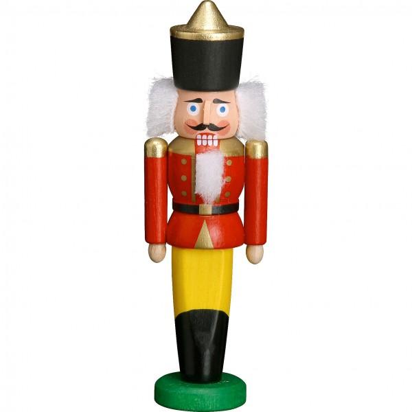 Mini-Nussknacker - König Rot 9cm
