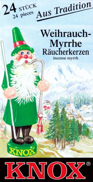 Dregeno Erzgebirge - KNOX Räucherkerzen Weihrauch-Myrrhe (24)