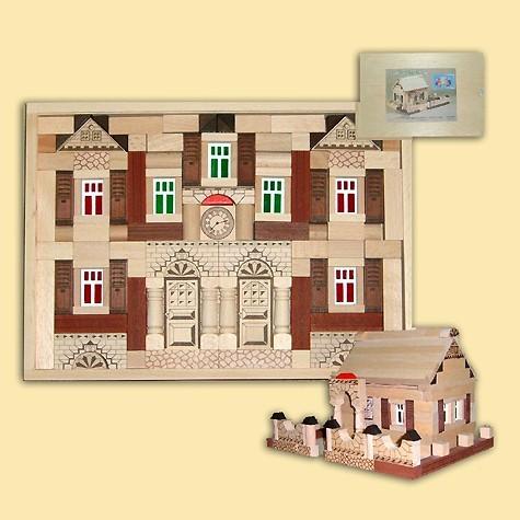 Ebert Holzbaukasten Noblesse Haus 150 Teile