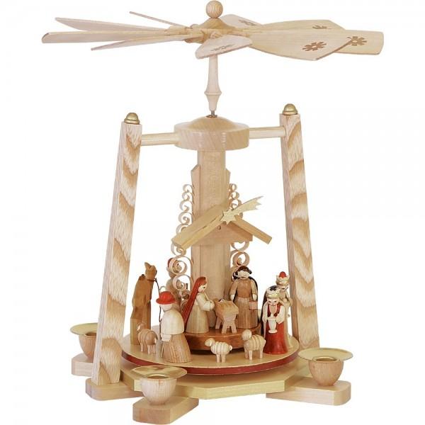 Richard Glässer Erzgebirgspyramide Christi Geburt natur 29cm