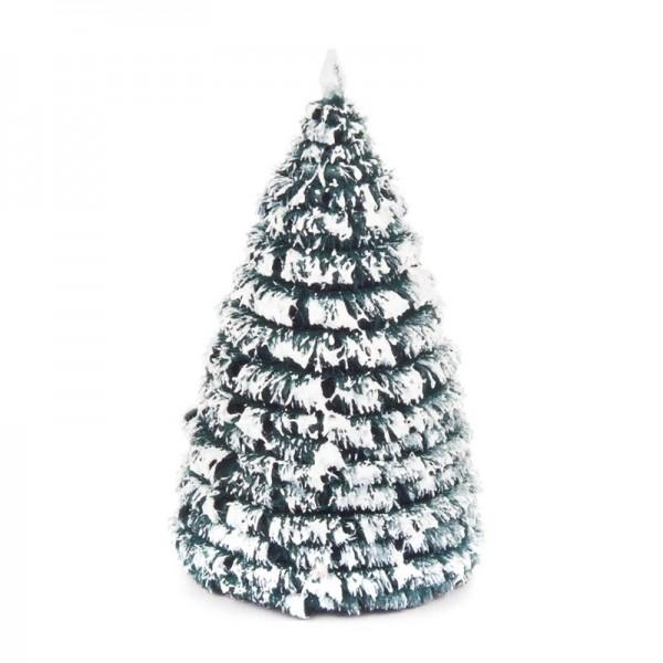 Dregeno Erzgebirge - Miniatur-Rauhreifbaum, grün/weiß, 6 cm, 3-teilig