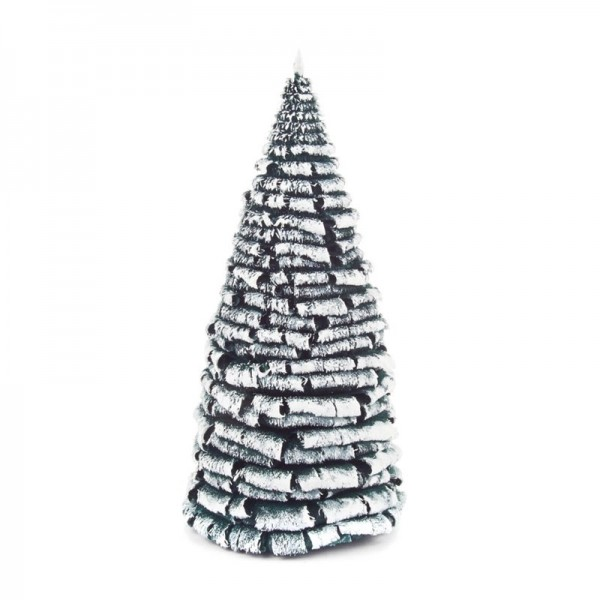 Dregeno Erzgebirge - Miniatur-Rauhreifbaum, grün/weiß, 18 cm