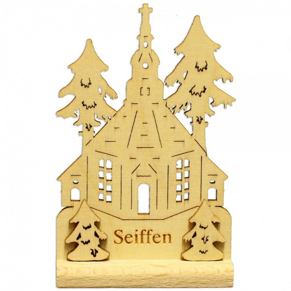 HELA Holzkunst - Miniatur Standbild Seiffner Kirche