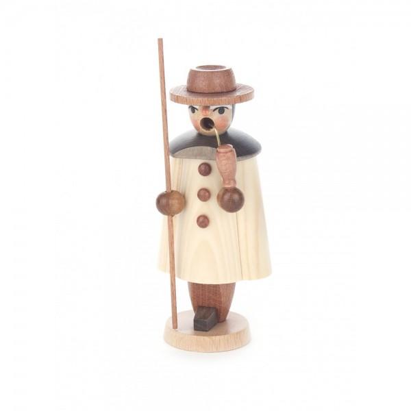 Dregeno Erzgebirge - Miniatur-Räuchermann Schäfer, natur - 11cm