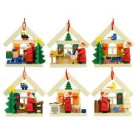 Graupner Holzminiaturen - Christbaumschmuck Haus-Weihnachtsmann