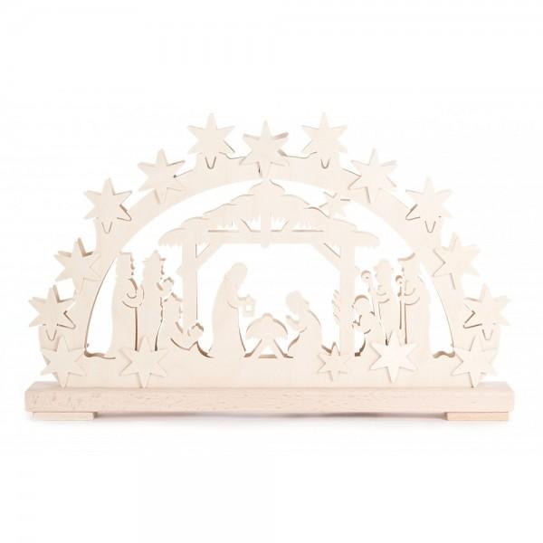 RATAGS - Schwibbogen mit Christi Geburt - elektrisch beleuchtet