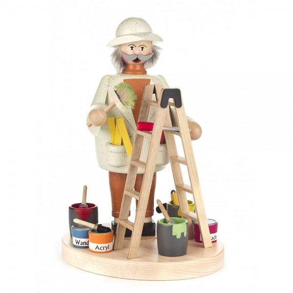 Dregeno Erzgebirge - Räuchermann Maler mit Leiter - 21cm
