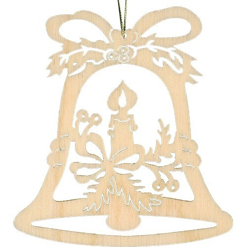 Lenk & Sohn Baumbehang Glocke Motiv Kerze