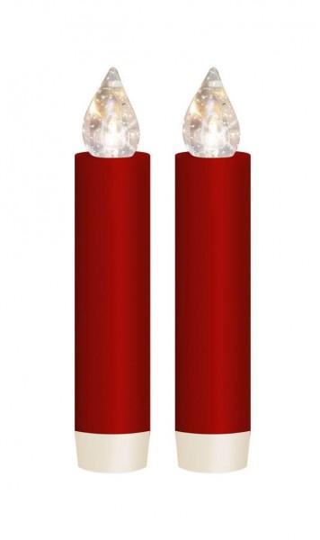 Dregeno Erzgebirge - LUMIX CLASSIC MINI S SuperLight, rot, Erweiterungs-Set, 2 Kerzen, 2 Batterien