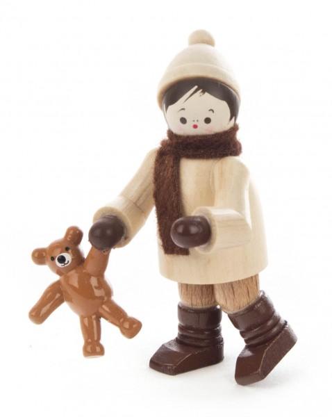 Dregeno Erzgebirge - Winterkind mit Teddy