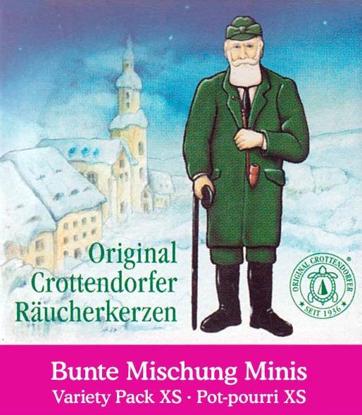 Dregeno Erzgebirge - Crottendorfer Mini-Räucherkerzen Bunte Mischung (24)
