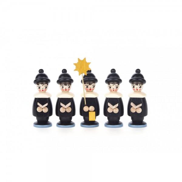 Dregeno Erzgebirge - Kurrendefiguren 5er-Gruppe, schwarz - 6cm