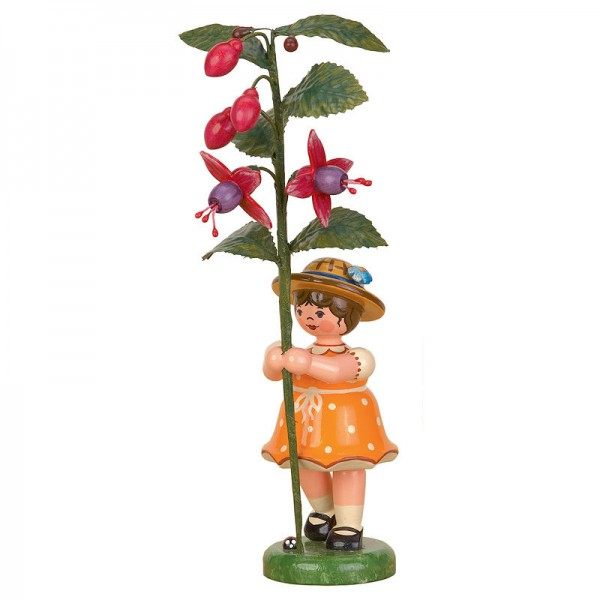 Hubrig Blumenkinder 17cm Mädchen mit Fuchsie