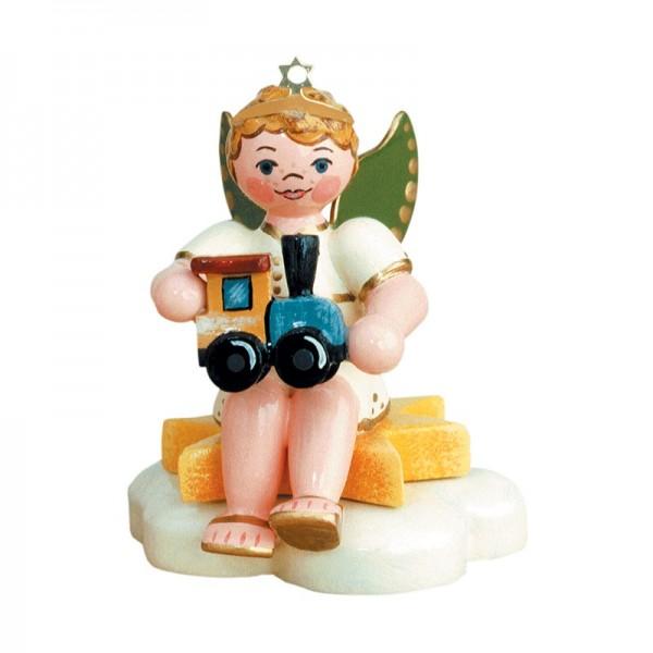 Hubrig Geschenke-Engel Engelbub mit Lok sitzend 6,5cm