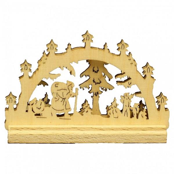 HELA Holzkunst - Miniatur Schwibbogen 2D Weihnachtsmann
