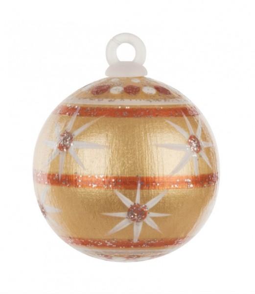 Dregeno Erzgebirge - Weihnachtsbaumkugel 3,0cm,gold-Variante: 5/30