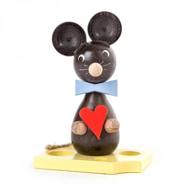 Dregeno Erzgebirge - Miniatur-Maus mit Herz