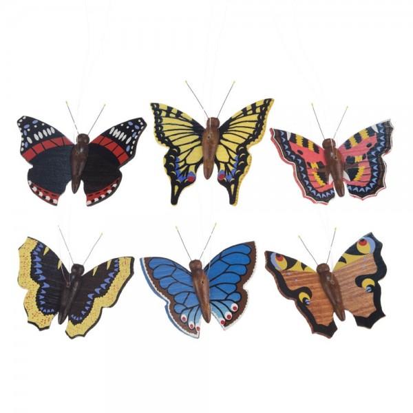 Dregeno Erzgebirge - Behang - Schmetterlinge, naturgetreu, 6-teilig
