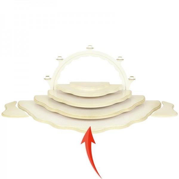 Uhlig Engel, Unterbauetage 5 für Wolkenstecksystem weiß/gold
