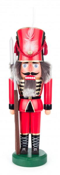 Dregeno Erzgebirge - Nussknacker Soldat rot, 38cm
