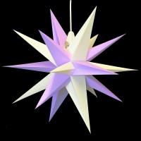 Annaberger Faltstern - Lila und weiße Spitzen - 60cm - Die Partybeleuchtung im Sommer