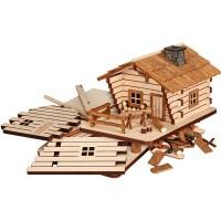 Seiffener Volkskunst - Bastelset - Räucherhaus Blockhütte