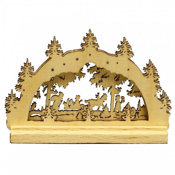 HELA Holzkunst - Miniatur Schwibbogen 2D Winterlandschaft