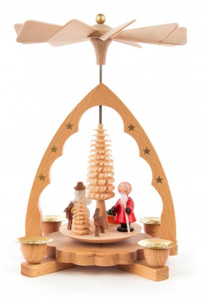 Dregeno Erzgebirge - Pyramide Nikolaus natur, für Kerzen Ø 10mm