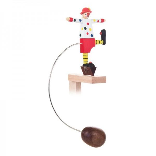 Dregeno Erzgebirge - Miniatur-Schaukelfigur Clown, sortiert