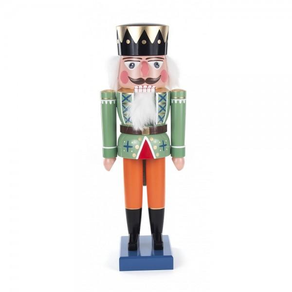Dregeno Erzgebirge - Nussknacker König grün - 36cm